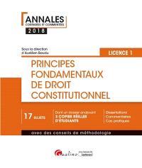 Principes fondamentaux de droit constitutionnel, licence 1, semestre 1 : 2018