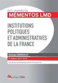 Institutions politiques et administratives de la France : 2017-2018