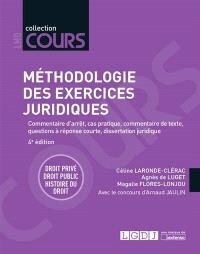Méthodologie des exercices juridiques : commentaire d'arrêt, cas pratique, commentaire de texte, questions à réponse courte, dissertation juridique