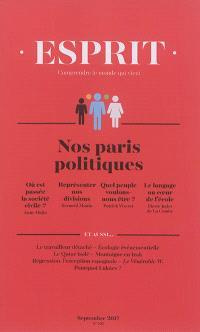 Esprit. n° 437, Nos paris politiques