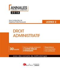 Droit administratif : licence 2 : 2018