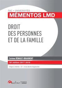 Droit des personnes et de la famille : 2017-2018
