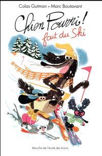 Chien Pourri fait du ski