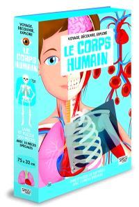 Voyage, découvre, explore, Le corps humain : livre et puzzle de 200 pèces avec 10 pièces spéciales