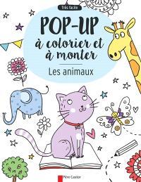 Les animaux : pop-up à colorier et à monter : très facile