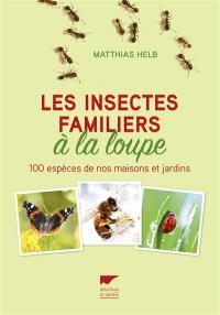Les insectes familiers à la loupe : 100 espèces de nos maisons et jardins