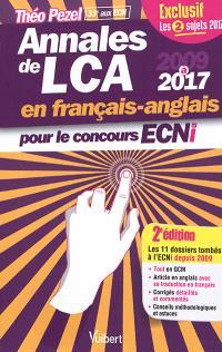 Annales de LCA en français-anglais pour le concours ECNi : 2009 à 2017 : tout en QCM