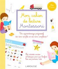 Mon cahier de lecture Montessori : dès 5 ans