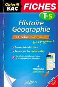 Histoire géographie terminale S : 71 fiches détachables