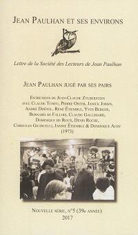 Jean Paulhan et ses environs : lettre de la Société des lecteurs de Jean Paulhan. n° 5, Jean Paulhan jugé par ses pairs