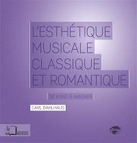L'esthétique musicale classique et romantique : de Kant à Wagner