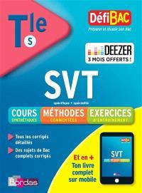 SVT spécifique + spécialité, terminale S