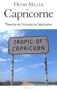 Capricorne : ébauche de Tropique du Capricorne