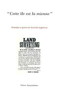 Cette île est la mienne : écrivains et poètes de Nouvelle-Angleterre