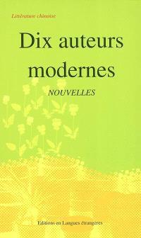 Dix auteurs modernes