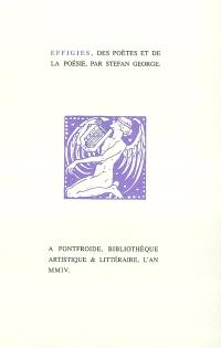 Effigies, des poètes et de la poésie