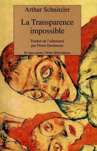 La transparence impossible : aphorismes