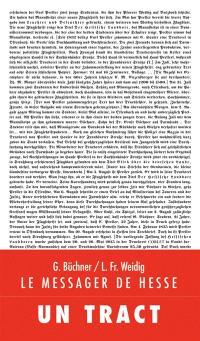 Le messager de Hesse : un tract = Der hessische Landbote