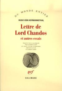 Lettre de Lord Chandos : et autres essais