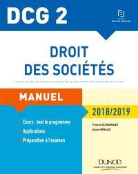 Droit des sociétés, DCG 2 : manuel : 2018-2019