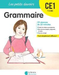 Grammaire CE1, 7-8 ans : 29 séances de 20 minutes