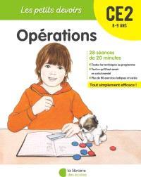 Opérations CE2, 8-9 ans : 28 séances de 20 minutes