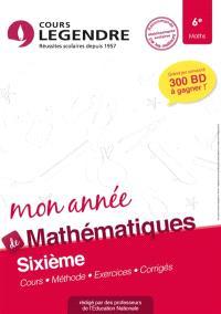 Mon année de mathématiques 6e : cours, méthode, exercices, corrigés