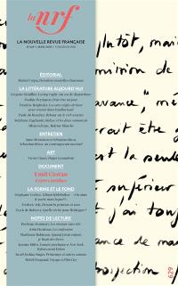 Nouvelle revue française. n° 629