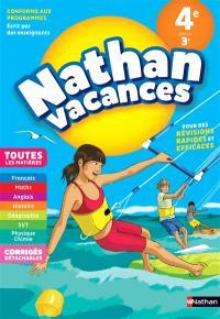Nathan vacances, 4e vers la 3e : toutes les matières