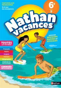 Nathan vacances, 6e vers la 5e : toutes les matières