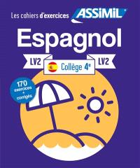 Espagnol collège 4e, LV2 : 150 exercices + corrigés