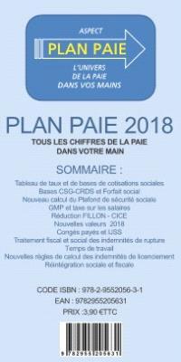 Plan paie 2018 : tous les chiffres de la paie dans votre main