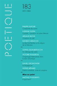Poétique. n° 183