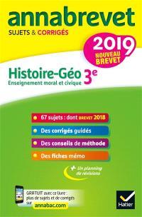Histoire géo, enseignement moral et civique 3e : nouveau brevet 2019