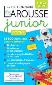 Le dictionnaire Larousse junior poche, 7-11 ans, CE, CM