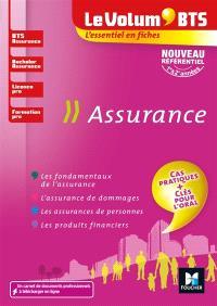 Assurance : BTS assurance, bachelor assurance, licence pro, formation pro : nouveau référentiel, 1re & 2e années