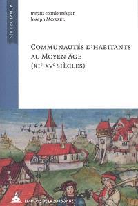 Communautés d'habitants au Moyen Age (XIe-XVe siècles)