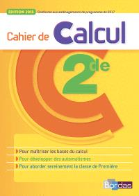 Cahier de calcul 2de
