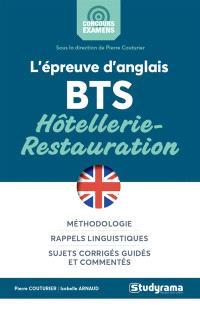 L'épreuve d'anglais BTS hôtellerie-restauration
