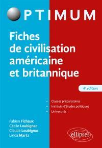 Fiches de civilisation américaine et britannique : classes préparatoires, IEP, universités