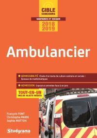 Ambulancier : tout-en-un : concours 2018-2019