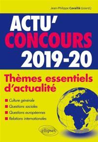 Thèmes essentiels d'actualité 2019-2020 : cours