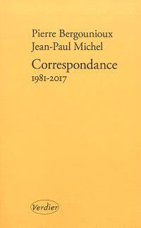 Correspondance : 1981-2017