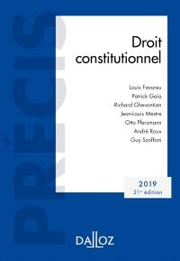 Droit constitutionnel : 2019