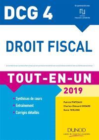 Droit fiscal, DCG 4 : tout-en-un : 2019