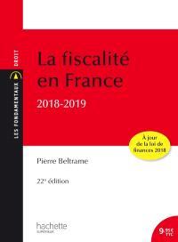 La fiscalité en France : 2018-2019