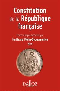 Constitution de la République française : 2019