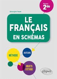 Le français en schémas, niveau 2de : méthode, auteurs, objets d'étude