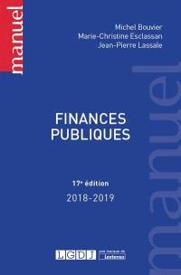 Finances publiques : 2018-2019