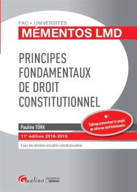 Principes fondamentaux de droit constitutionnel : 2018-2019